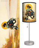 Saturday Evening Post: Boy and Girl Gazing at Moon - Table Lamp Table Lamp by Norman Rockwell