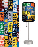 Saturday Evening Post: License Plates - Table Lamp Table Lamp