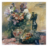 Flower Still Life (Calla and Lilac with Bronze), 1920 Gicleetryck av Lovis Corinth