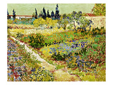 Flowering Garden with Path, Arles, 1888 Giclee Print by Vincent van Gogh