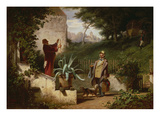 School Day Friends, about 1855 Gicleetryck av Carl Spitzweg