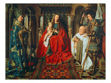 Madonna and Child with Canon Joris Van Der Paele, 1436 Poster by  Jan van Eyck
