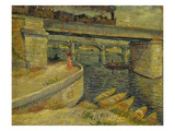 Seine Bridge Near Asnieres, 1887 Giclee Print by Vincent van Gogh
