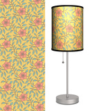 Deco Flowers with Yellow Background - Table Lamp Table Lamp