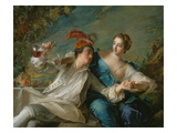The Lovers (Chivalric Scene), 1744 Giclee Print by Jean-Marc Nattier