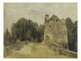 Bridge and Mill in Mantes (Mantes, L`Entree Du Pont), about 1860/1865 Posters by Jean-Baptiste-Camille Corot