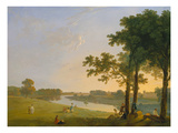 View across the Thames River Near Kew Gardens onto Syon House, about 1760/1770 Reproduction procédé giclée par Richard Wilson