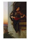 The Violinist, 1863 Giclée-Druck von Edward Jakob Von Steinle