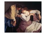 Martha Reprimands Her Sister Mary Giclée-tryk af Orazio Gentileschi