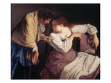 Martha Reprimands Her Sister Mary Giclee Print by Orazio Gentileschi