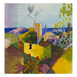 Landscape by the Sea (Landschaft Am Meer), 1914 Giclee Print by Auguste Macke