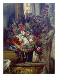 Vase Mit Blumen Auf Einer Konsole Prints by Eugène Delacroix