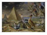 Die Vier Erdteile. Detail Aus Der Tafel Asien: Pyramide Giclee Print by Jan van Kessel