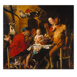 The Satyr with the Peasants. after 1620 Giclee Print by Jacob Jordaens