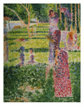 Strollling Couple, about 1884/1885 Giclee Print by Georges Seurat