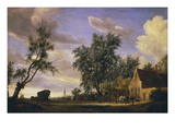 The White Swan Inn Gicl&#233;e-Druck von Salomon van Ruysdael