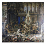 Les Pretendants. Started in 1852 Giclee Print by Gustave Moreau