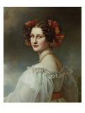 Auguste Hilber, Née Strobl, 1827. from the Beauty-Gallery of King Ludwig I Giclee Print by Joseph Karl Stieler
