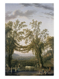 Grape Harvest Near Sorrent Giclee Print by Jacob-Philippe Hackert