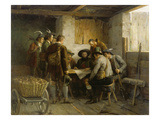 The Council of War of Andreas Hofer Gicl&#233;e-Druck von Franz Von Defregger