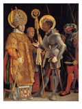 Saint Erasmus and Saint Maurice Giclée-tryk af Matthias Grünewald