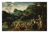 The Sermon of John the Baptist Giclee Print by Jan Swart van Groningen