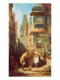 The Eternal Bridegroom, about 1855/58 Gicleetryck av Carl Spitzweg
