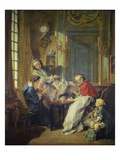 Breakfast, 1739 Print by Francois Boucher