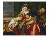 Die Mystische Vermaehlung Der Heiligen Katharina Posters by Lorenzo Lotto