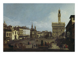Piazza Della Signoria, Florence. (1740/45) Posters by Bernardo Bellotto
