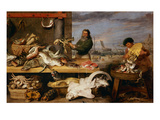 A Fish Market . (The Characters of Cornelis De Vos) Giclee Print by Frans Snyders