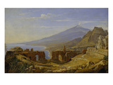 The Theatre of Taormina, 1818 () Giclee Print by Franz Ludwig Catel