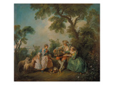 The Birdcage (Les Amours Du Bocage), about 1735 Giclee Print by Nicolas Lancret