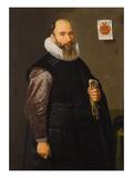 Portrait of Merchant Lambert Van Tweenhuysen Giclee Print by  Master of Haarlem