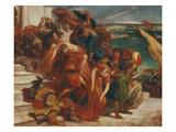 Abduction of Women, about 1852 Poster by Eugène Delacroix