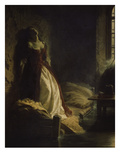 Princess Tarakanov in the Dungeon, 1776. Painted in 1864 Giclee Print by Konstantin Dimitr Flawitzky