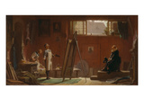 The Portrait Painter, about 1858 Gicléetryck av Carl Spitzweg