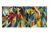 Stables (Stallungen), 1913 Giclee Print by Franz Marc