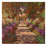A Pathway in Monet&#39;s Garden, Giverny, 1902 Reproduction proc&#233;d&#233; gicl&#233;e par Claude Monet