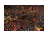 Die Schlacht Bei Issus 333 V.Chr. (Alexanderschlacht), 1529. Detail Giclee Print by Albrecht Altdorfer