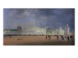 Panorama of Moscow, 1839. Left Panel of the Triptych Giclee Print by Johann Philipp Eduard Gaertner