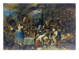 Gathering of Witches, 1607 Kunst von Frans II the Younger Francken