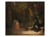 The Widower, 1844 Gicléetryck av Carl Spitzweg