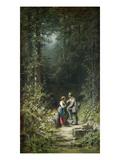 Begegnung Im Walde (Jaeger Und Sennerin), um 1858 Poster by Carl Spitzweg