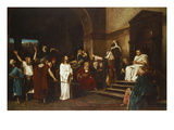 Christ in Front of Pontius Pilate, 1881 Giclee Print by Mihaly Munkacsy
