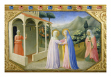 Visitation, from the Predella of the Annunciation Alterpiece Art by Fra Angelico