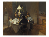 Dinner-Time at the Sisley's, ca. 1868/69 Print by Claude Monet
