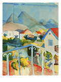 Saint Germain Near Tunis, 1914 Giclee Print by August Macke