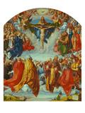 Das Allerheiligenbild. Anbetung Der Dreifaltigkeit Als Vision Einer Civitas Die, 1511 Prints by Albrecht Dürer
