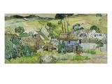 Vincent van Gogh - Farmhouses at Auvers, 1890 Digitálně vytištěná reprodukce